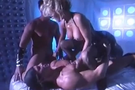 Retro porn - busty blonde mmf threesome